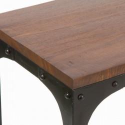 Nachttisch Mdf Schwarz Rot (45 x 35 x 66 cm) - Modern Kollektion by Craftenwood