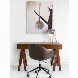 Nachttisch Mdf Rot (45 x 32 x 56 cm) - Modern Kollektion by Craftenwood